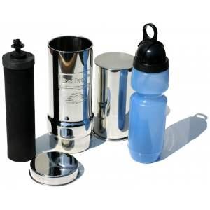KIT GO BERKEY : Purificateur d'eau autonome avec gourde GO Berkey incluse - Capacité : 0,95 et 0,6 litres