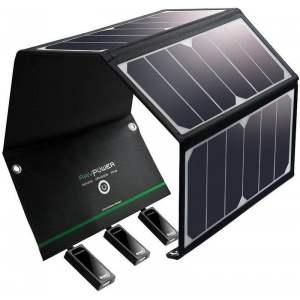 RAVPOWER 24W : Chargeur solaire photovoltaïque portable.