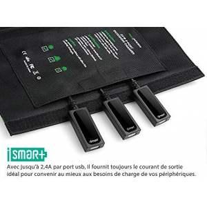 RAVPOWER 24W : Chargeur solaire photovoltaïque portable