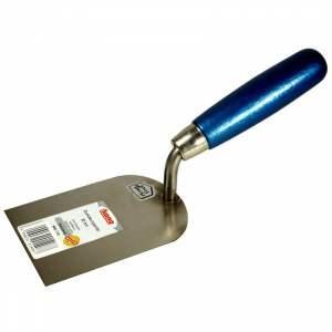 Truelle stucateur - acier inoxydable - poignée bois laqué - largeur 8 cm - N° 073 02