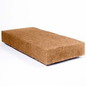 Panneau semi-rigide d'isolation écologique en laine de bois - Marque Steico - Modèle Flex.