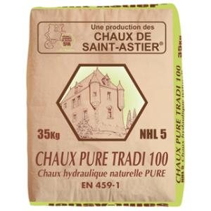 Chaux hydraulique NHL 5 - Modèle pure tradi 100 - Marque Chaux & Enduits Saint-Astier