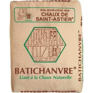 Liant à la chaux - pour mortiers et bétons en mélange avec du chanvre - Modèle Batichanvre - Marque Chaux & Enduits Saint-Astier