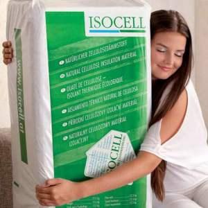 Ouate de cellulose en vrac - Marque Isocell (sac de 10 kg)