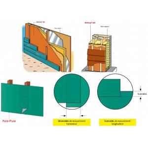 Ecran pare-pluie - 135 g / m² - Marque Ubbink - Modèle Multivap 200.