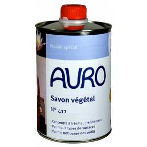 Savon végétal liquide concentré - bidon d'un litre - Marque Auro - N° 411.