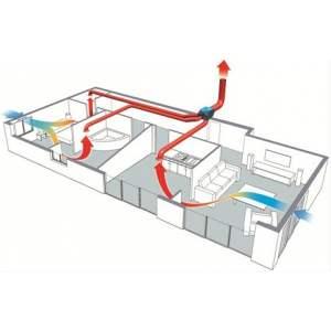 Bouche d'extraction de salle de bain pour VMC simple flux - hygroréglable - débit 10/40 - Atlantic - BH SDB 10/40  / 422744