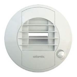 Bouche d'extraction de WC pour VMC simple flux - à pile - détection de présence - débit 5/30 - Atlantic - BAWC 5/30 I  / 422740