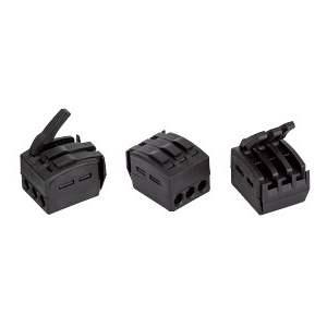 Connecteur automatique de terre - 50 pièces - fil souple & rigide - 3 entrées - sections 0,75 à 2,5 mm² - Courant - Réf 85990000