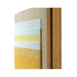 Panneau rigide de fibre de bois pour isolation par l'extérieur - pour façade avec enduit - Modèle Diffutherm - Marque Pavatex.
