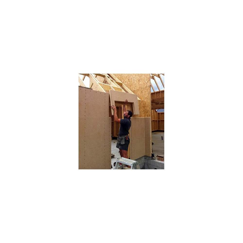 Panneau rigide de fibre de bois pour isolation par l'extérieur pour façade avec enduit  # Isolation Panneau Fibre De Bois