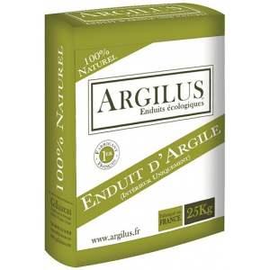 Enduit de finition à l'argile - Intérieur - Sac de 25 kg - Marque Argilus