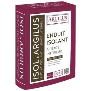 Enduit isolant à base d'argile - Intérieur - Sac de 10 kg - Modèle Isol'Argilus - Marque Argilus