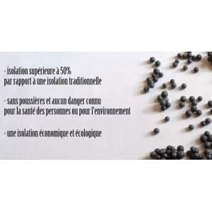 ECOGRAPHITE PREMIUM : Billes de carbone expansé - Isolation intérieur - Lambda de 0,031 W / m * K - Marque Montaigne Strategy.