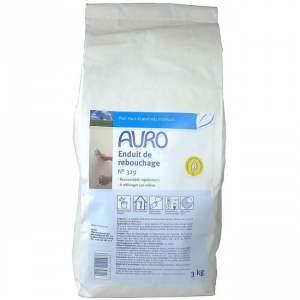 Enduit de rebouchage N° 329 - Marque Auro (sacs de 0,5 et 3 kg)