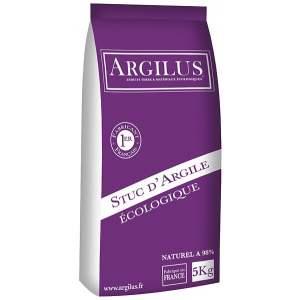 Stuc d'argile - Intérieur - Sac de 5 kg - Marque Argilus.