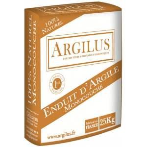 Enduit d'argile monocouche - Intérieur - Sac de 25 kg - Marque Argilus.