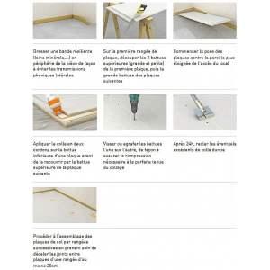 Plaque Fermacell (fibre & gypse) pour sol - Avec fibre de bois (FB) - Marque Fermacell.