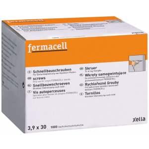 Vis autoperceuses pour Plaque Fermacell (fibre & gypse) pour cloison et plafond - Marque Fermacell.