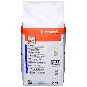 Enduit pour joint de plaque Fermacell (fibre-gypse) à bords droits - Sac de 5 kg - Marque Fermacell.