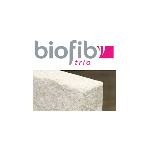 Paquet de panneaux semi-rigides en chanvre, lin et coton - Format : 1250 mm * 600 mm - Modèle Biofib'Trio - Marque Biofib Isolation