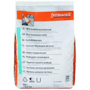 Perlite en vrac : Isolant thermique pour espaces creux - Sac de 100 litres - Marque FERMACELL.