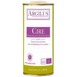 Cire de protection et de finition - Pour enduits, stucs, badigeons - Intérieur - 1 litre - Marque Argilus