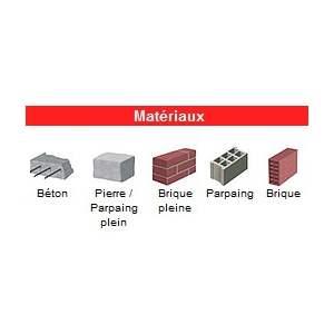 Matériaux adaptés - Clou et cheville pour isolation I.T.E. - Simple expansion - Nylon - Ø 50 mm - Marque I.N.G. Fixations.