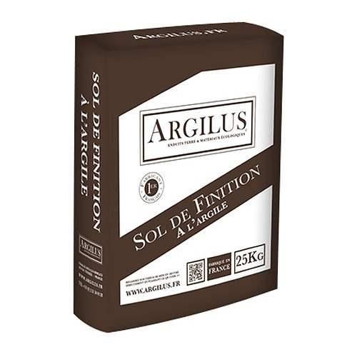 Sol de finition à l'argile - Intérieur - sac de 25 kg - Marque Argilus