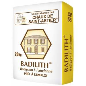 BADILITH - Badigeon à la chaux en poudre - Intérieur et extérieur - Marque Chaux & Enduits Saint-Astier (sac de  20 kg)