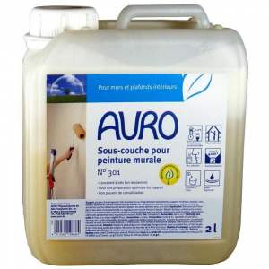 Sous couche pour peinture - intérieur - mur & plafond - Marque Auro - N° 301 (bidon de 2 / 5 litres)