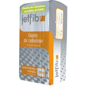 JETFIB OUATE : Ouate de cellulose en vrac - Marque Biofib Isolation.