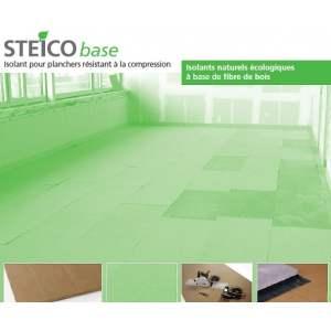 STEICO BASE : Panneau en fibre de bois rigide pour plancher flottant - Marque Steico.