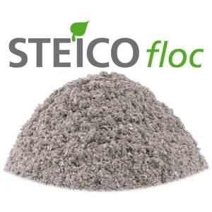 STEICO FLOC - Ouate de cellulose en vrac - Marque Steico (sac de 13 kg)